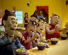 Nissin's Top Ramen Mind Your Head commercial