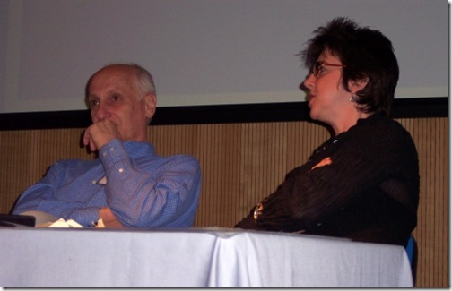 Michel Ocelot and Joanna  Quinn at Animation Unlimited 2008