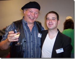Gunnar Strøm and Tom  Lowe at the Bob Godfrey exhibit at Animation Unlimited 2008