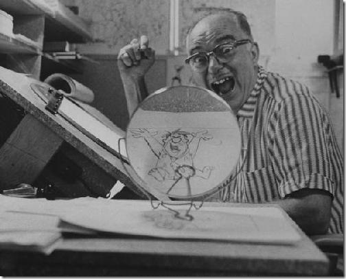 Carlo Vinci at Hanna-Barbera in 1960