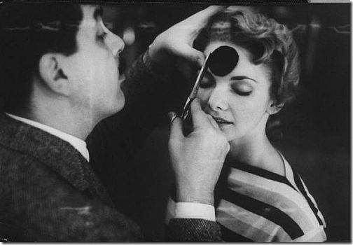 Ernie Kovacs and Barbra Loden demonstrating how electronic sight gag was done for Ernie Kovacs Show