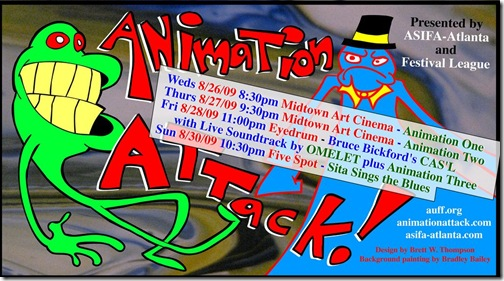Animation Attack 2009 flyer