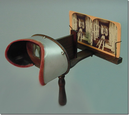 "Stereoscope in the collection of the Smithsonian Institution "" styled after the Holmes-Bates model."""