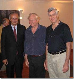 Walter Veltrone, Richard Williams and John Canemaker at 2007 Pordenone Silent Film Festival