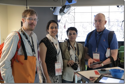 Timothy Jones, Akshata Udiaver, Debjani Bandyopadhyay and Harvey Deneroff - photo Charles DaCosta SAS 2014 (61)