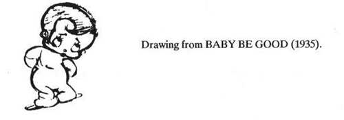 Lillian Friedman drawing from Baby Be Good
